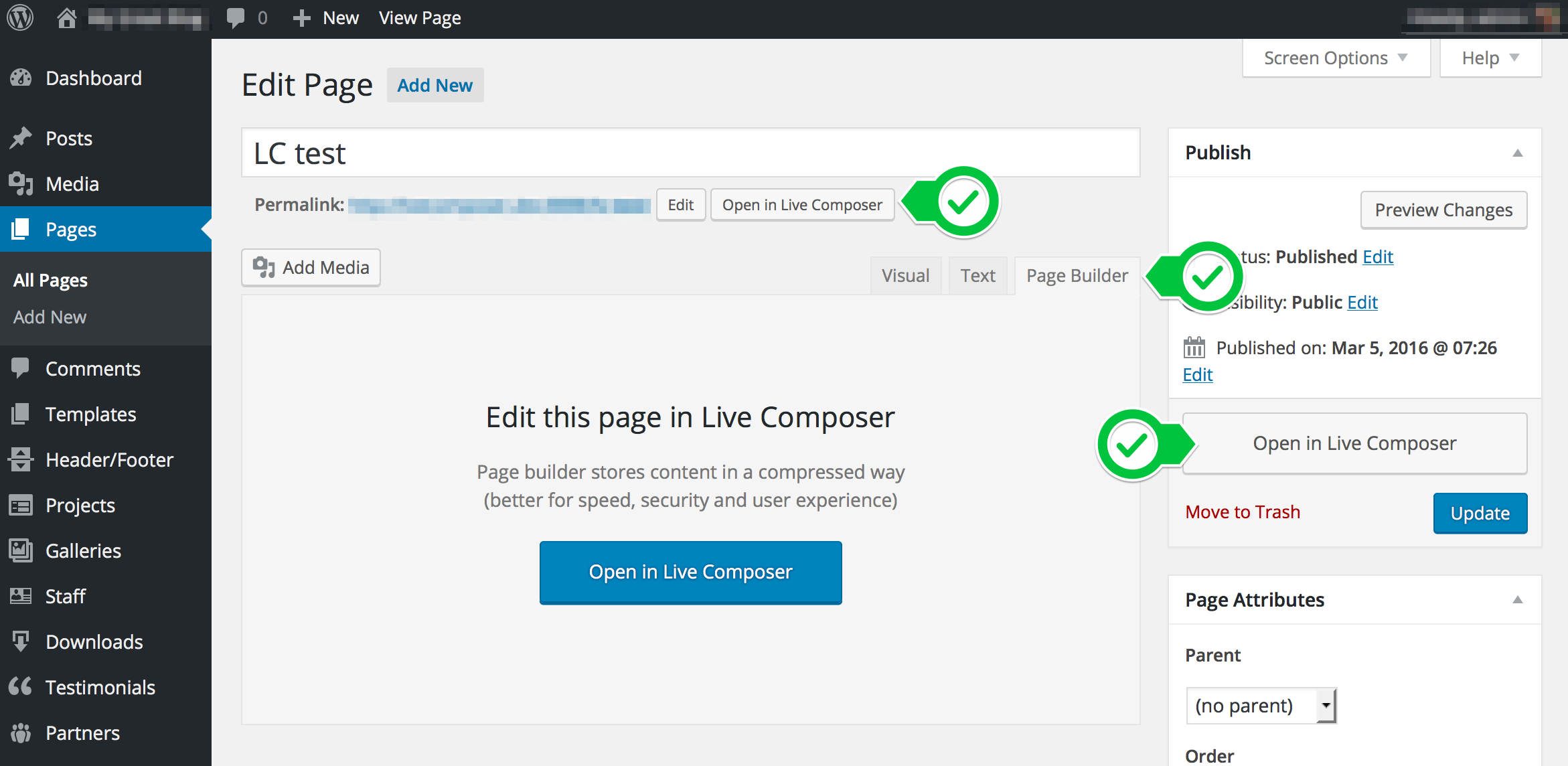 Live Composer – WP Page Builder – UI improvements in verison 1.0.7