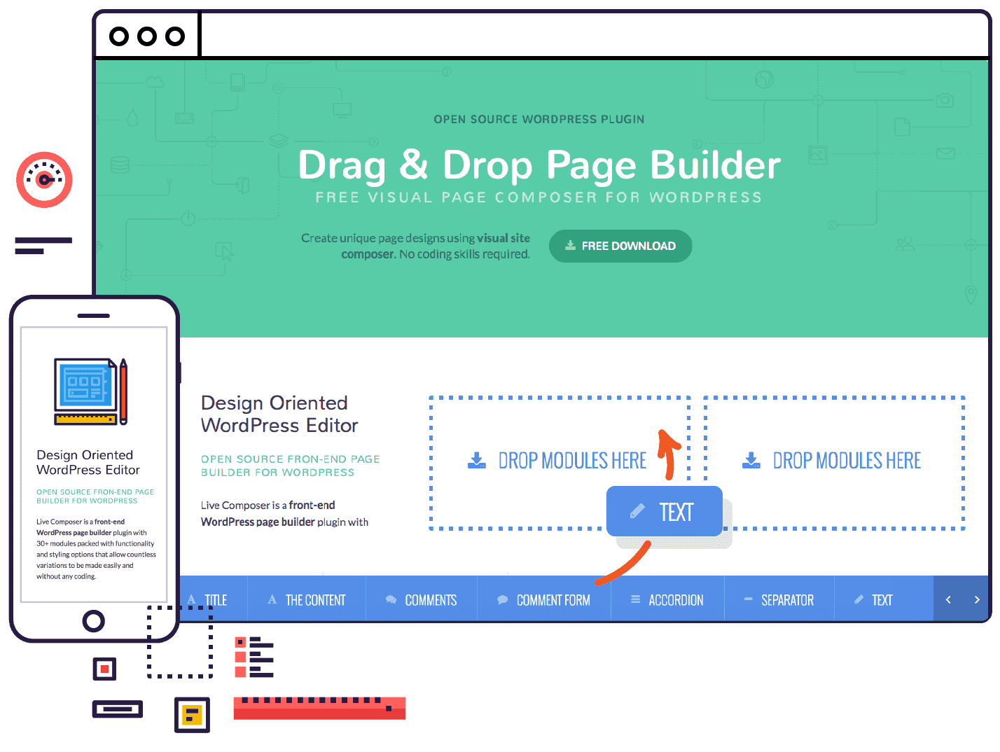 page builder for wordpress 100 free plugin livecomposer