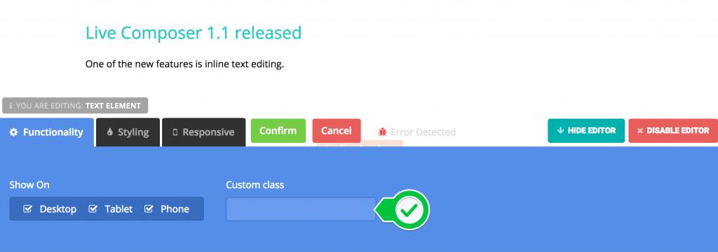 LC Update – Custom Class Control